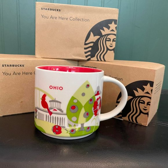 """STARBUCKS """"You are here collection"""" OHIO"""